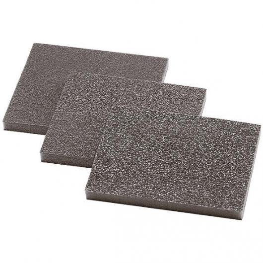 Wolfcraft 2895000 - 3 esponjas abrasivas, grano 60,120,180 98 x 123 x 10 mm