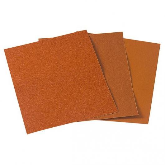 Wolfcraft 3141000 - 16 feuilles abrasives papier corindon