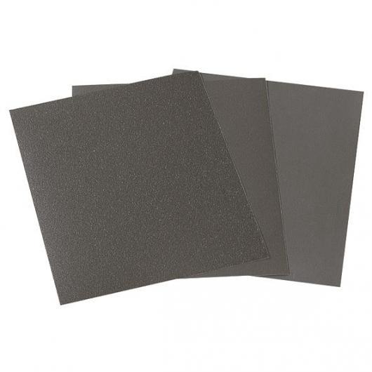 Wolfcraft 3119000 - 16 feuilles abrasives papier à l'eau et à sec