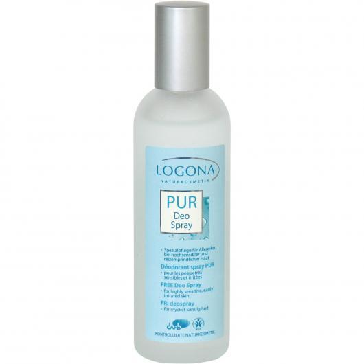 Déodorant spray Free peaux sensibles Logona, 100 ml