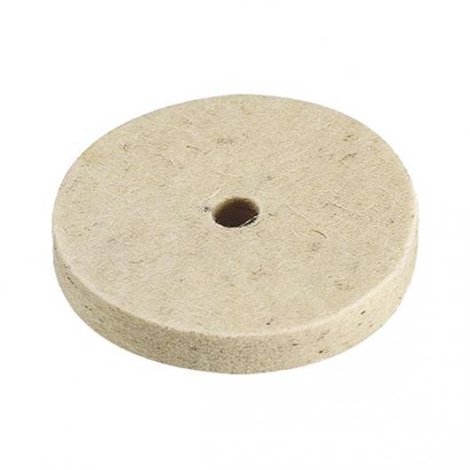 Wolfcraft 2130000 - 1 disco de fieltro, diámetro 10 mm Ø 75 x 10 mm