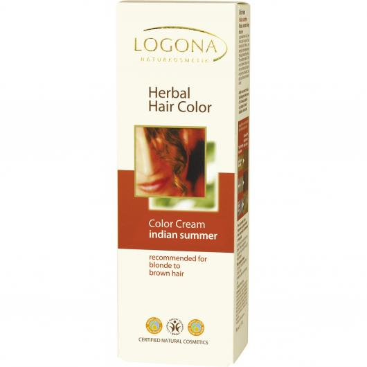 Coloration végétale en crème Couleurs d'automne Logona, 150 ml