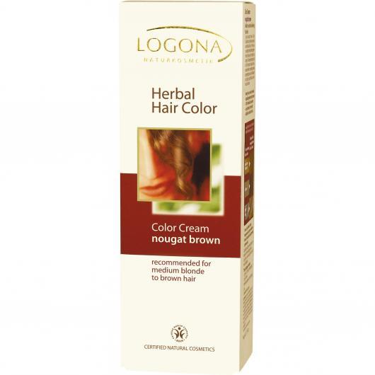 Tintura vegetale in Crema Castano Noce Logona, 150ml