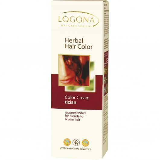 Coloration végétale en crème Logona, 150 ml vin rouge