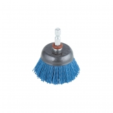 "Wolfcraft 2728000 - 1 cepillo de copa de nylon, vástago hexagonal 1/ 4"" (6,35 mm), azul = suave Ø 50 mm"