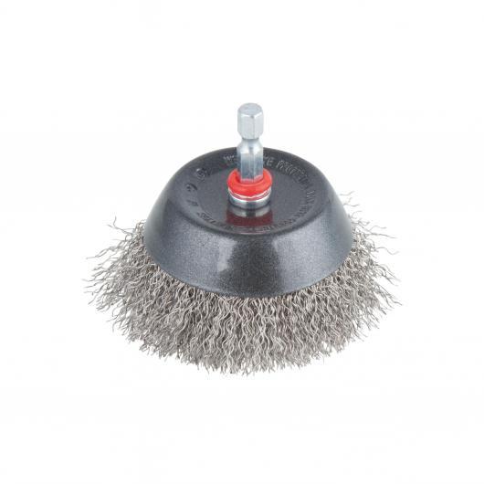 Wolfcraft 2746000 - 1 brosse à fils d'acier soucoupe