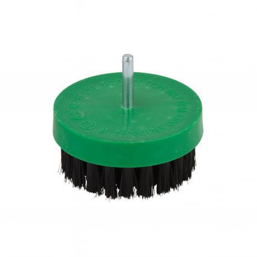 Wolfcraft 2713000 - 1 cepillo de pulir con cerdas suaves, vástago redondo Ø 6 mm Ø 80 mm