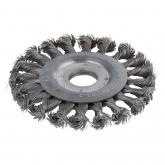 Wolfcraft 2148000 - 1 cepillo metálico de disco, trenzado, taladro 22,2 mm Ø 115 x 15 mm