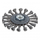 Wolfcraft 2149000 - 1 cepillo metálico de disco, trenzado, rosca M 14 Ø 115 x 15 mm