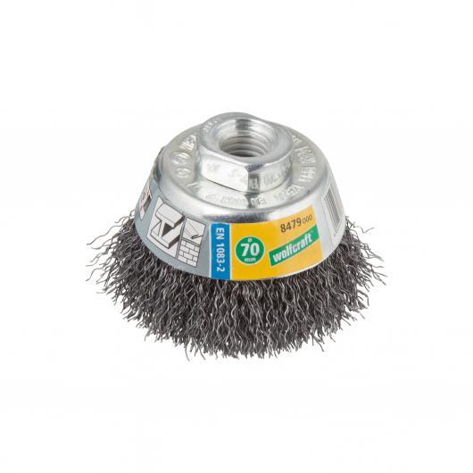 Wolfcraft 8476000 - 1 spazzola metallica a tazza