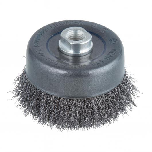 Wolfcraft 2151000 - 1 spazzola metallica a tazza