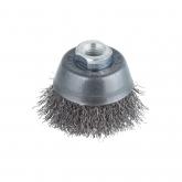 Wolfcraft 2702000 - 1 escova metálica tipo copo de aço inoxidável