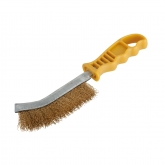 Wolfcraft 2716000 - 1 cepillo metálico de mano, latón, mango de plástico 265 mm