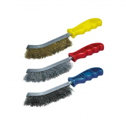 Wolfcraft 2138000 - 1 set di spazzole metalliche manuali