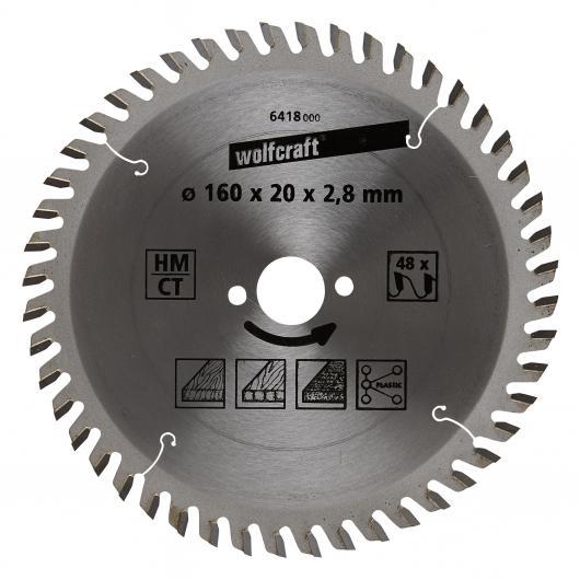 Wolfcraft 6418000 - 1 lame de scie circulaire