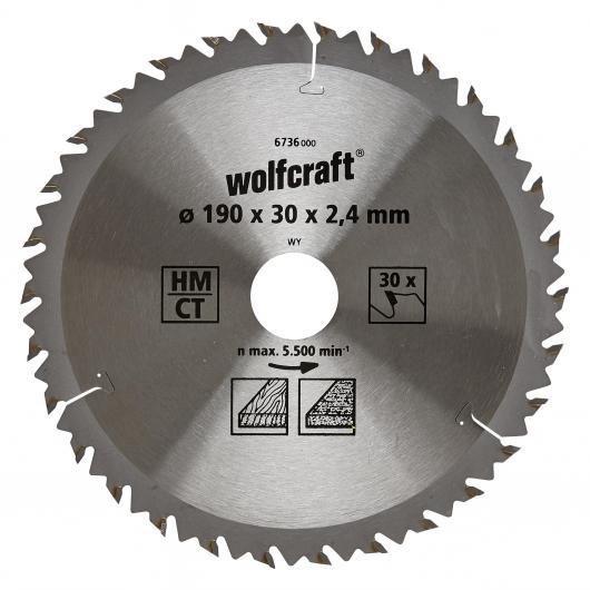 Wolfcraft 6736000 - 1 lame de scie circulaire