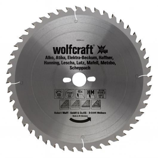 Wolfcraft 6684000 - 1 lame de scie circulaire