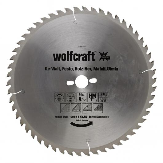 Wolfcraft 6686000 - 1 hoja de sierra circular HM, 54 dient., serie naranja Ø 350 x 30 x 3,5 mm