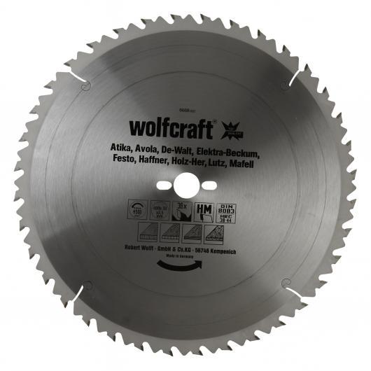Wolfcraft 6668000 - 1 hoja de sierra circular HM, 36 dient., serie verde Ø 400 x 30 x 3,5 mm