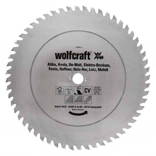 Wolfcraft 6608000 - 1 hoja de sierra circular CV, 56 dient., serie roja Ø 400 x 30 x 2,0 mm