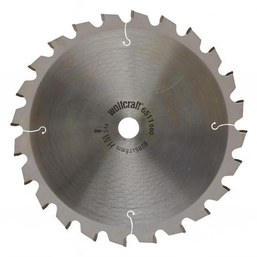 Wolfcraft 6511000 - 1 hoja de sierra circular HM, 24 dient., serie verde Ø 205 x 18 x 2,8 mm