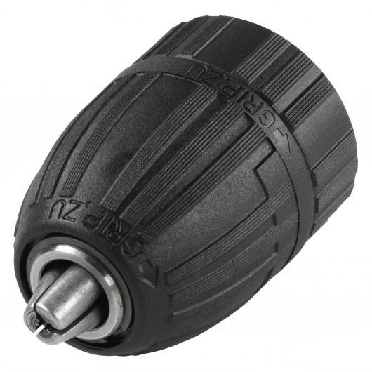 Wolfcraft 2642000 - 1 portabrocas de acción rápida de 1,5-13 mm, rosca interior, con marcha a la derecha y a la izquierda, para taladradoras con acumulador y presión automática 13 (1/ 2