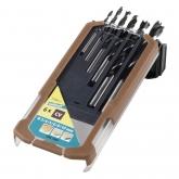 Wolfcraft 7108000 - 6 brocas helicoidais para madeira