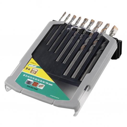 Wolfcraft 7109000 - 9 brocas especial para hormigón, compuesto de: