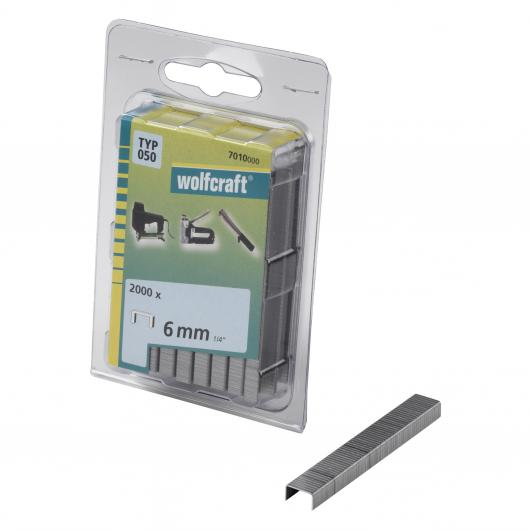 Wolfcraft 7010000 - 2000 agrafes larges