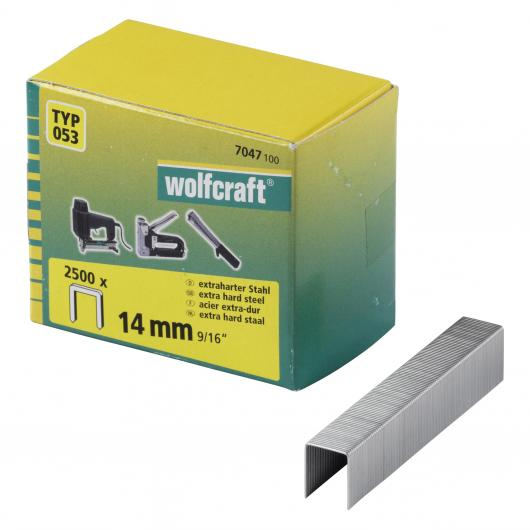 Wolfcraft 7047100 - 2500 agrafes larges