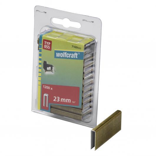 Wolfcraft 7169000 - 1200 grapas de lomo estrecho, tipo 055 23 mm