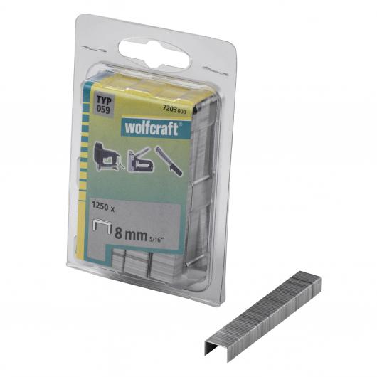 Wolfcraft 7203000 - 1250 agrafes larges