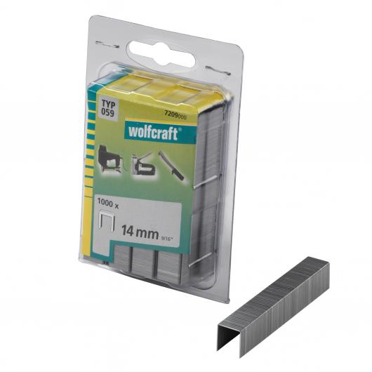 Wolfcraft 7209000 - 1000 agrafes larges