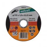 Wolfcraft 1685999 - 1 disco de cortar para metal específico para acero fino, granel Ø 115 x 1,0 x 22,23 mm