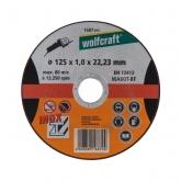 Wolfcraft 1687999 - 1 disco de cortar para metal específico para acero fino, granel Ø 125 x 1,0 x 22,23 mm