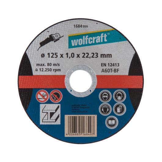 Wolfcraft 1684999 - 1 disco de cortar para metal, granel Ø 125 x 1,0 x 22,23 mm
