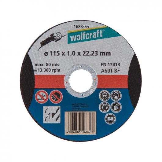 Wolfcraft 1668999 - 1 disco de cortar para aluminio, granel Ø 115 x 1,5 x 22,23 mm