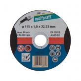Wolfcraft 1669999 - 1 disco de cortar para aluminio, granel Ø 125 x 1,5 x 22,23 mm