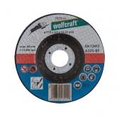 Wolfcraft 1620300 - 5 discos de cortar para metal, cubo deportado Ø 115 x 2,5 x 22,23 mm