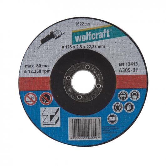 Wolfcraft 1622099 - 1 disco de cortar para metal, cubo deportado, granel Ø 125 x 2,5 x 22,23 mm
