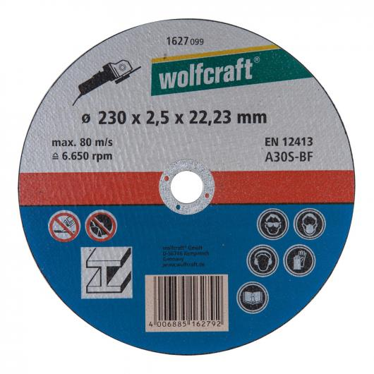 Wolfcraft 1627099 - 1 disco de cortar para metal, granel Ø 230 x 2,5 x 22,23 mm