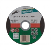 Wolfcraft 1686999 - 1 disco de cortar para piedra, granel Ø 115 x 1,6 x 22,23 mm