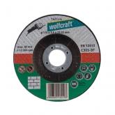 Wolfcraft 1621099 - 1 disco de cortar para piedra, cubo deportado, granel Ø 115 x 2,5 x 22,23 mm