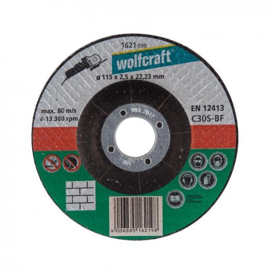 Wolfcraft 1623300 - 5 discos de cortar para piedra, cubo deportado Ø 125 x 2,5 x 22,23 mm