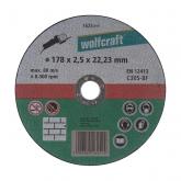 Wolfcraft 1625099 - 1 disco de cortar para piedra, granel Ø 178 x 2,5 x 22,23 mm