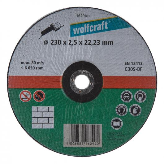 Wolfcraft 1629099 - 1 disco de cortar para piedra, cubo deportado, granel Ø 230 x 2,5 x 22,23 mm