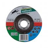 Wolfcraft 1660999 - 1 disco de cortar univ. para piedra y metal, cubo deportado, granel Ø 115 x 2,5 x 22,23 mm