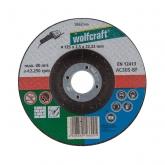 Wolfcraft 1662999 - 1 disco de cortar univ. para piedra y metal, cubo deportado, granel Ø 125 x 2,5 x 22,23 mm