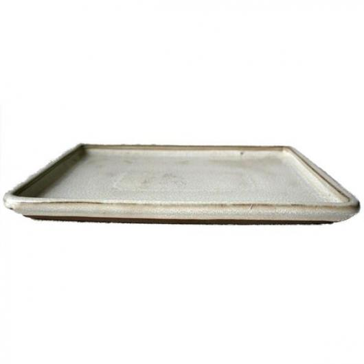 Plato cerámico Java Crema rectangular