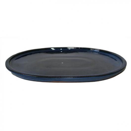 Piatto ceramica Java Azzurro ovale
